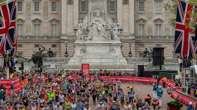 Escena del pasado maratón de Londres.