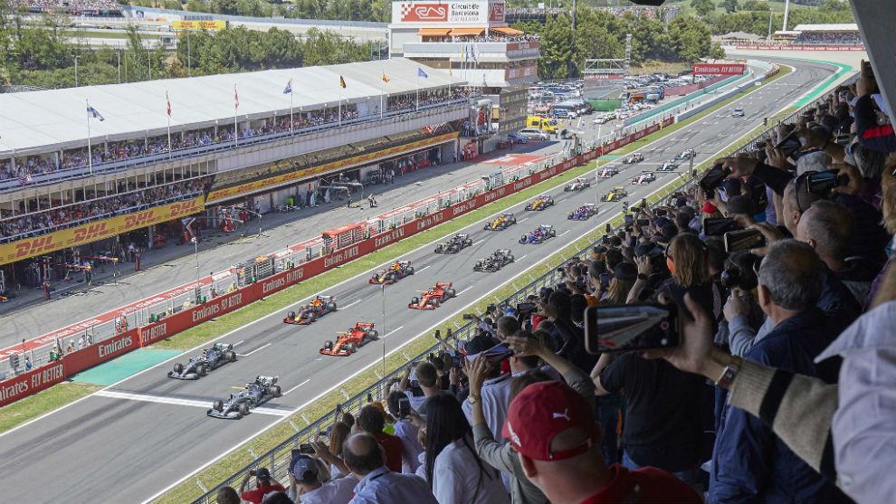 Imagen de la salida del Gran Premio de España del pasado mes de mayo.