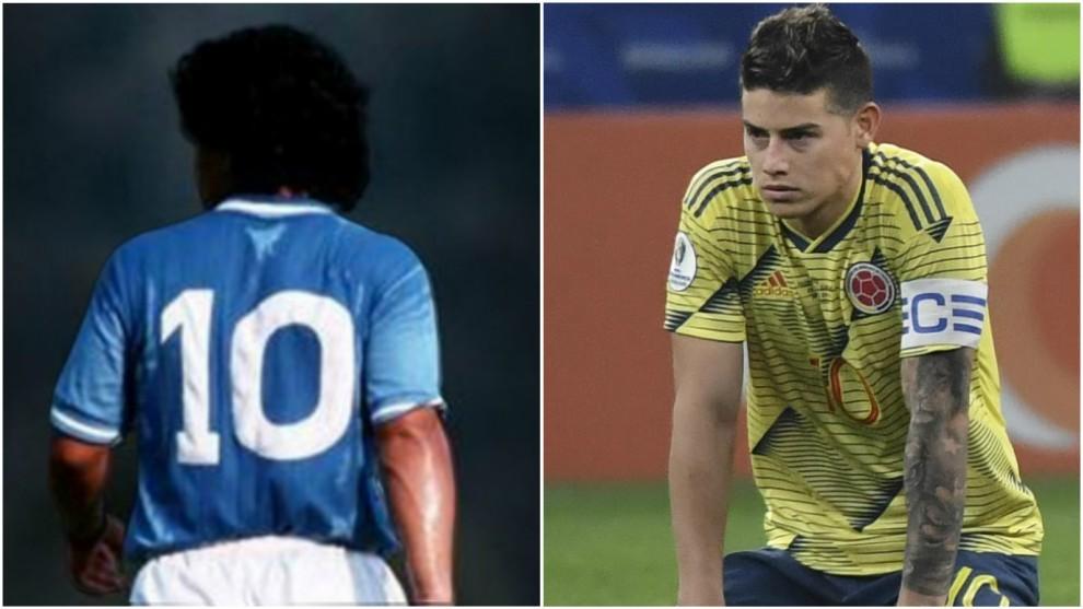 """Sosa: """"Jamás le daría la 10 de Diego Maradona a James""""."""