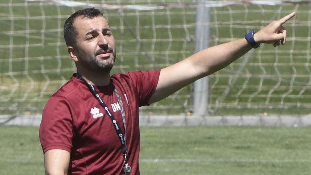 Diego Martínez, en un entrenamiento de la pasada temporada.