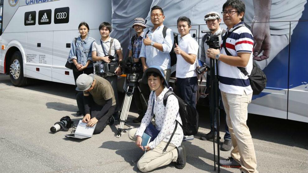 Los medios japoneses desplazados hasta Canadá para seguir a Kubo.