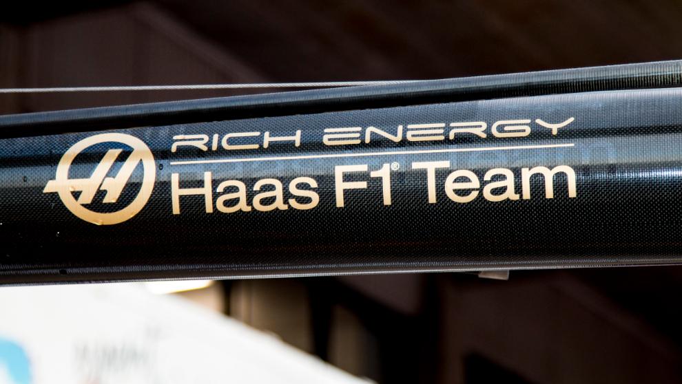 El logo de Haas F1 para 2019.