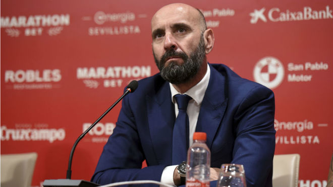Monchi in a recent press conference.