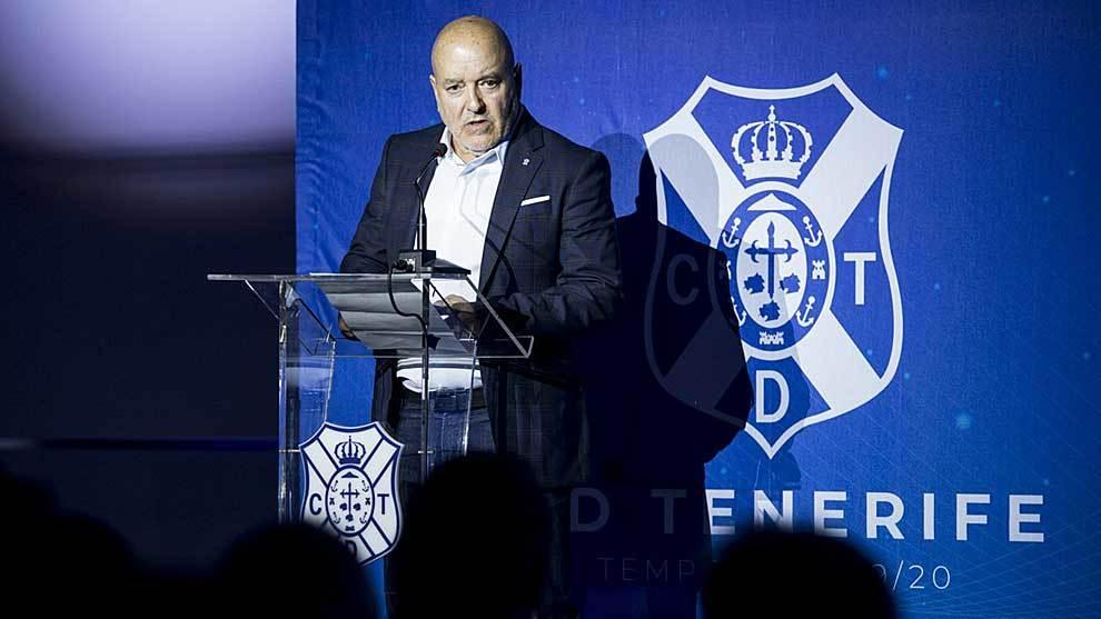 El presidente Miguel Concepción en el acto con el que arrancó la...