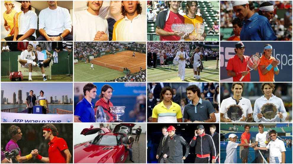 Nadal y Federer, dos históricos del tenis