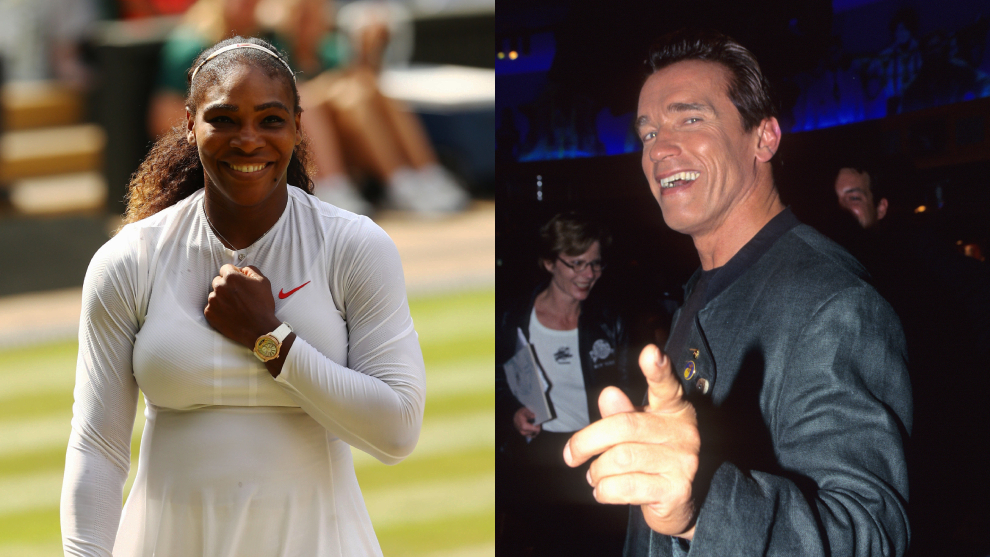 Serena Williams y Arnold Schwarzenegger