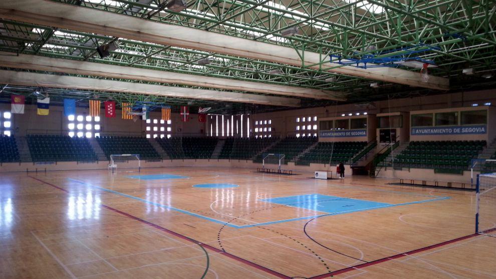 El pabellón Pedro Delgado, donde los equipos de Segovia jugaron sus...