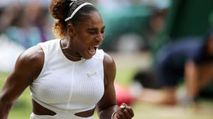 Serena festeja su pase a la final