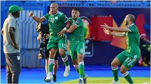 Feghouli celebra su gol contra Costa de Marfil.
