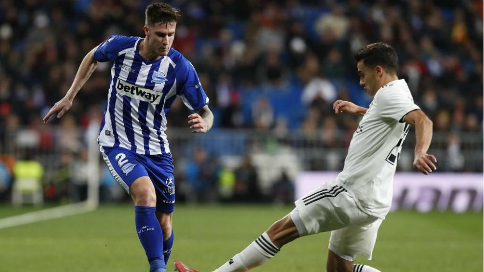 Vigaray, en un partido contra el Real Madrid.