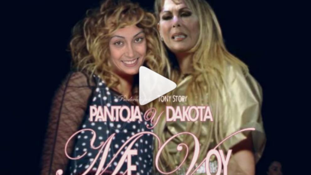 Isabel Pantoja y Dakota, protagonistas de la parodia 'Me voy'