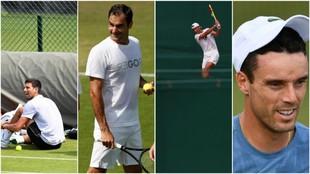 Djokovic, Federer, Nadal y Bautista, en Wimbledon