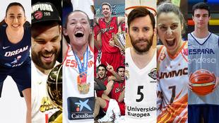 Los premiados en la I Gala del Baloncesto Español