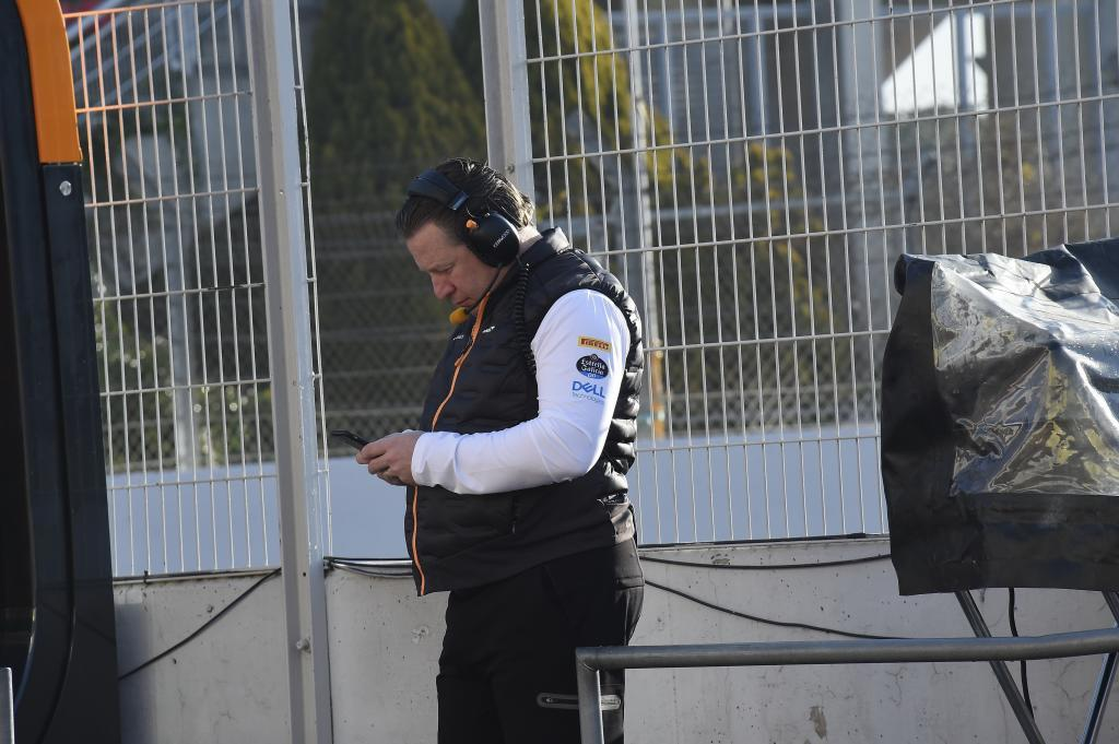 <HIT>Zak</HIT><HIT>Brown</HIT> (EEUU) CEO McLaren Test F1, primer día circuito de Montmelo el lunes 18 de febrero de 2019 *** Local Caption *** RUBIO