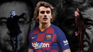 Griezmann con la camiseta del Barcelona