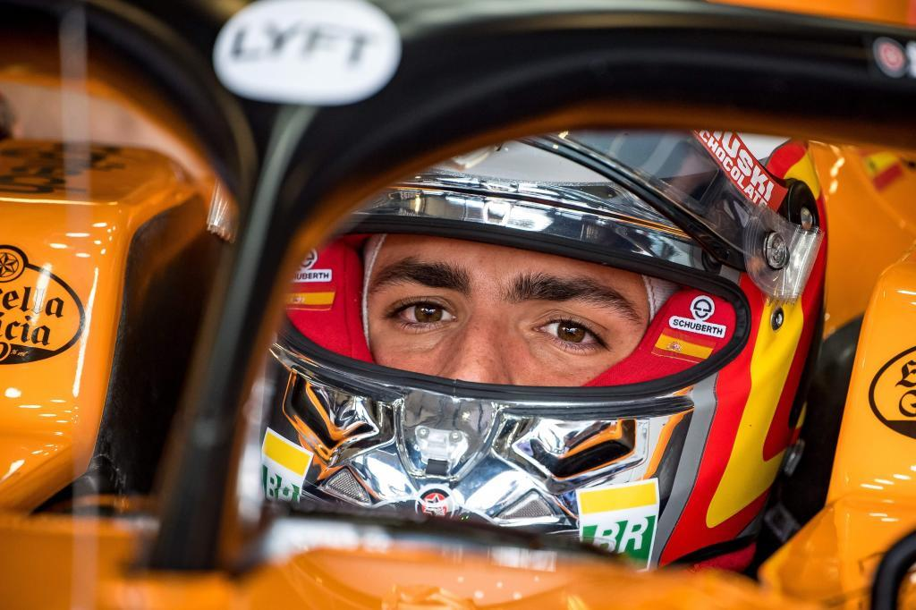 McLarens Spanish driver Carlos <HIT>Sainz</HIT> Jr prepares to drive during first practice at Silverstone motor racing circuit in Silverstone, central England, on July 12, 2019 ahead of the British Formula One Grand Prix. (Photo by ANDREJ ISAKOVIC / AFP)