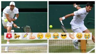 Gran semifinal entre Bautista y Djokovic