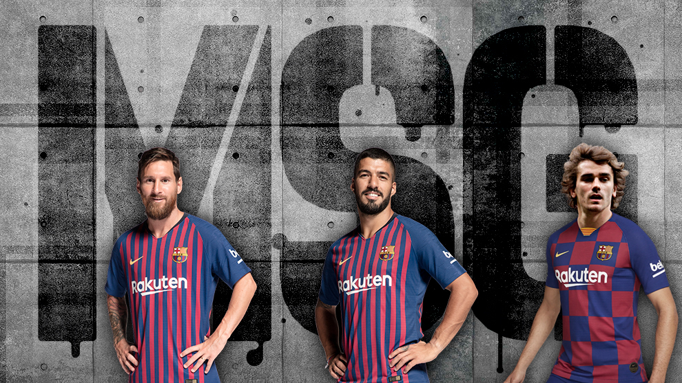 Barcelona Messi Suarez And Griezmann Barcelona S Msg The 100 Goal Trident Marca In English