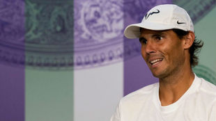 Nadal, en la rueda de prensa posterior a su derrota con Federer