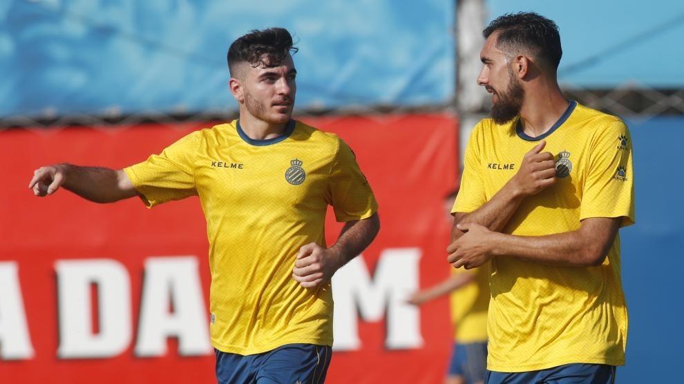 Borja Iglesias y Campuzano, en un entrenamiento