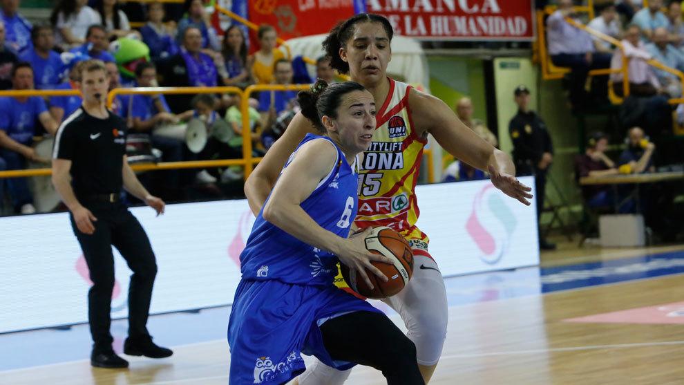 Silvia Domínguez durante la final de la Liga DÍA