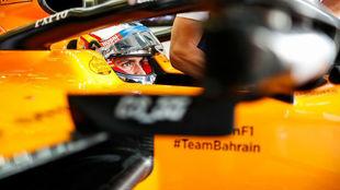 Sainz, durante la calificación del GP de Gran Bretaña.
