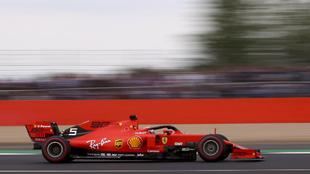 Vettel en Silverstone.