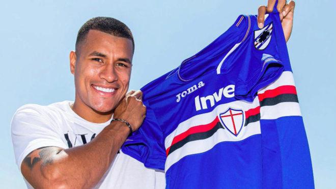 Murillo con la camiseta de la Sampdoria.