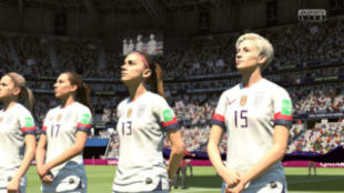 Imagen de un partido de fútbol femenino en FIFA 19