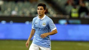 Manu García, durante un partido del Manchester City ante la Roma