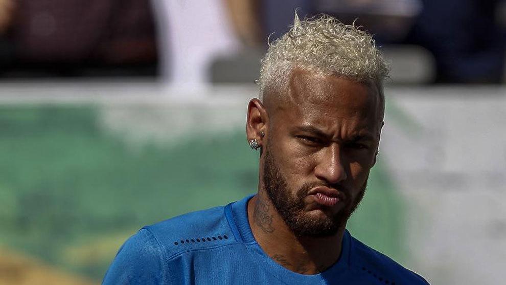 Neymar in Sao Paulo, Brazil.