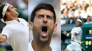 Federer, Djokovic y Nadal, en Wimbledon