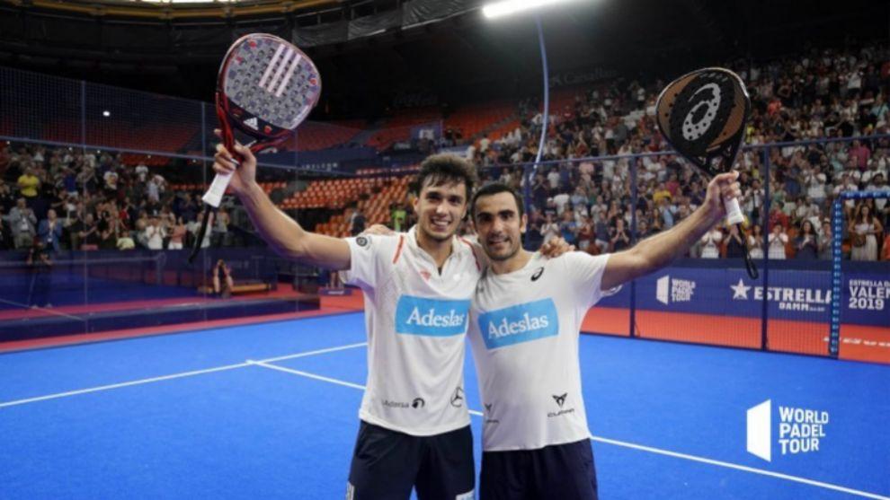 Ale Galán y Pablo Lima celebran su primer título como pareja.