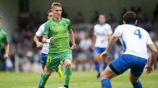 Odegaard mostró buena visión de juego en el amistoso de Azpeitia.
