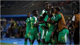 Senegal celebra su pase a la final de la Copa África tras vencer a...