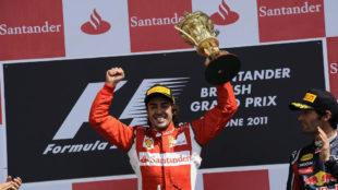 Fernando Alonso, en 2011 en Silverstone.