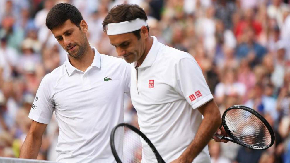 Djokovic y Federer, en la red