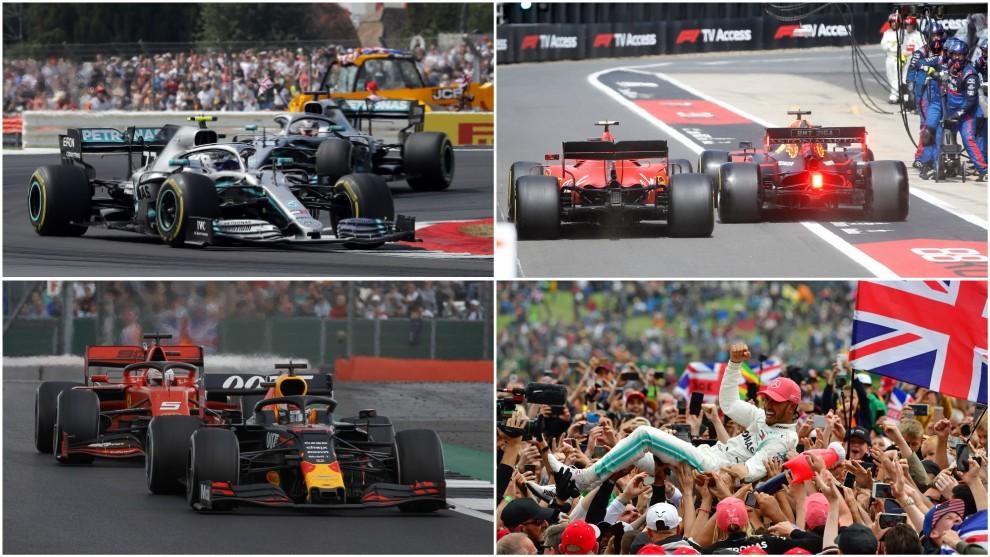 Bottas y Hamilton; Leclerc y Verstappen; Max y Seb; y Lewis.