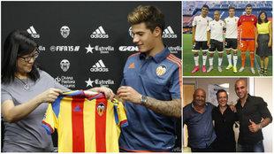 Tres momentos diferentes con jugadores que llegaron al Valencia en...