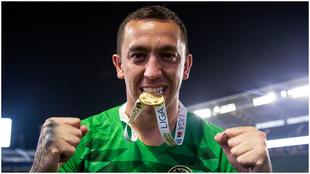 Agustín Marchesín en la celebración del título de Campeón de...