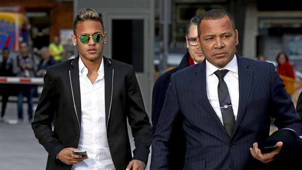 Neymar and his father