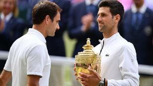 Federer y Djokovic, la cruz y la cara de Wimbledon