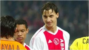 Ibra, durante un partido de Champions entre Ajax y Valencia.
