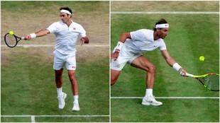 Federer y Nadal, en Wimbledon