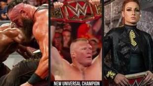 Brock Lesnar gana el Campeonato Universal de la WWE: Lo mejor del...