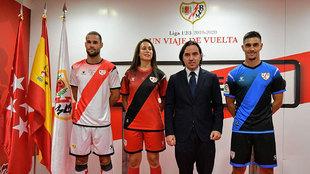 El presidente rayista Martín Presa en la presentación de las nuevas...