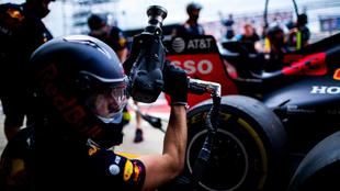 Red Bull en Silverstone.
