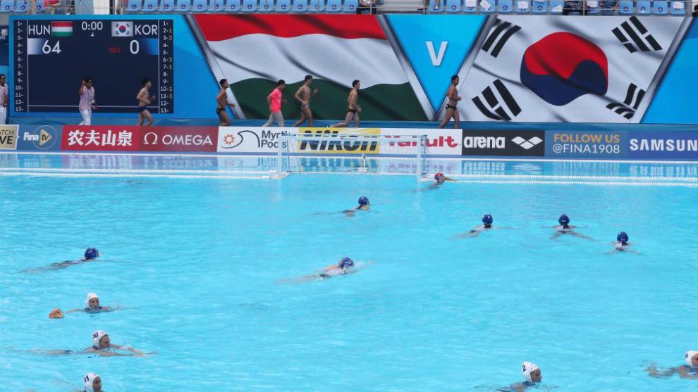Final del partido entre Hungría y Corea del Sur