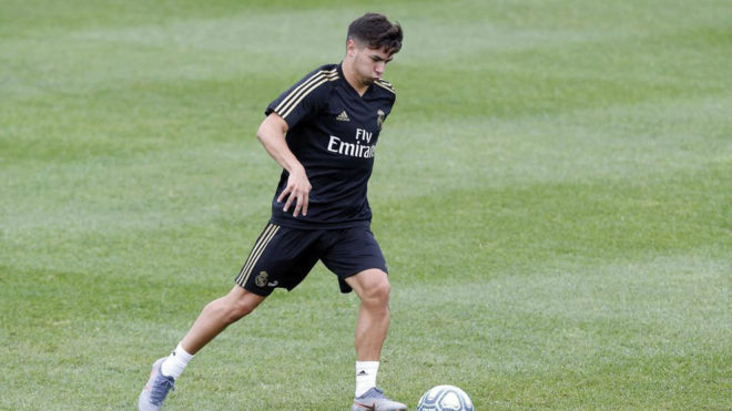 Brahim Diaz during a training session in Montreal.