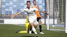 Dani Gómez celebra un gol con el Castilla en los 'playoffs' de...